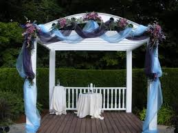 wedding arches decorated with tulle wedding arches photo gallery photo of blue purple wedding