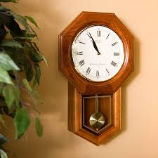 seiko dark brown oak schoolhouse wall clock 13 inches wide