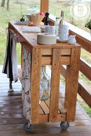 Pallet Kitchen Island by Best 25 Kitchen Carts On Wheels Ideas On Pinterest Mobile