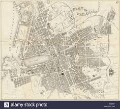 Marseilles France Map by Marseilles Antique Town Plan City Map France Bradshaw 1890