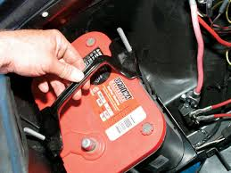 mustang battery how to install a top mount battery tray car
