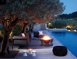 Pool Landscape Lighting Ideas by Magical Themed Poolside Wedding Reception D Cor Idea Swimming