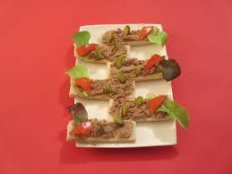 canapé toast toast aux rillettes diet délices recettes dietétiques