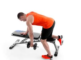 Dumbbell Exercises On Bench 6 Exercises With A Weights Bench Domyos By Decathlon