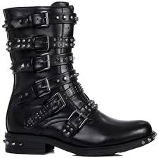 biker boot style bomb black biker boots from spylovebuy com