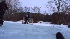 backyard rink goalie 2015 youtube