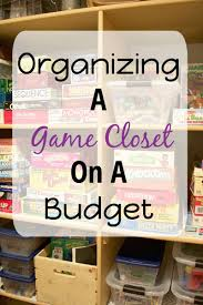 organizing a game closet on a budget the organized mama