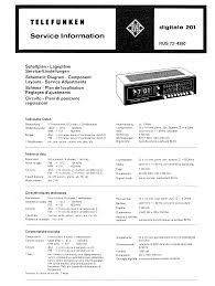 telefunken digitale 201 sm service manual download schematics