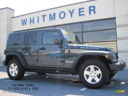 jeep wrangler unlimited grey 2007 steel blue metallic jeep wrangler unlimited rubicon 4x4