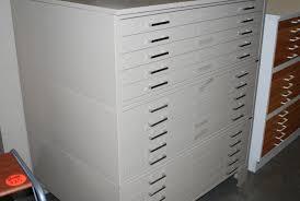 3 Drawer Vertical Filing Cabinet by Used Flat Files Roll Files U0026 Plan Racks Hopper U0027s Drafting Furniture