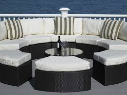 Circular Patio Seating Patio 19 Round Patio Table Round Outdoor Furniture Wicker