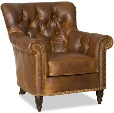 Leather Tufted Chair Kirby Stationary Club Chair By Bradington Young For The Home