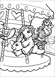 pony color cartoon characters coloring pages