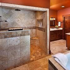 Open Showers No Doors Astonishing Walk In Showers No Doors Pictures Best Ideas