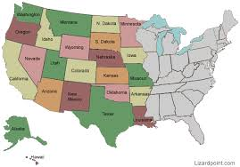 map usa west test your geography knowledge western usa states lizard point