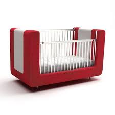 red and white sofa style baby crib 3d cgtrader