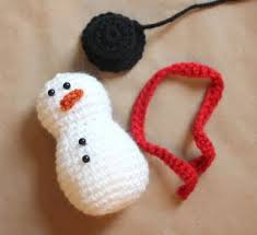 repeat crafter me crochet snowman pattern crafts