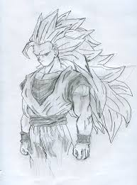 super saiyan 3 goku sketch by camberf on deviantart