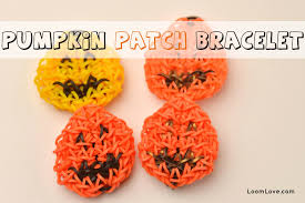 rainbow loom thanksgiving charms how to make a rainbow loom pumpkin patch bracelet youtube