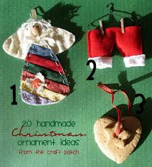 the craft patch twenty handmade christmas ornament ideas