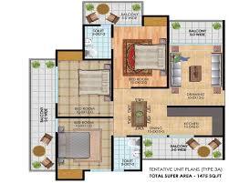antriksh golf city noida antriksh golf city noida floor plan 3bhk 1475 sq ft in antriksh golf city noida 1475 sq ft