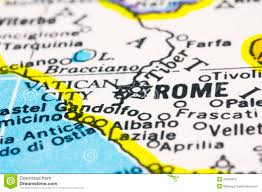 Map Rome Italy by Close Up Of Rome On Map Italy Stock Photos Image 24492913