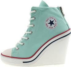 Converse High Heels Amazon Com Maxstar Women U0027s 777 Back Zipper Canvas High Wedge
