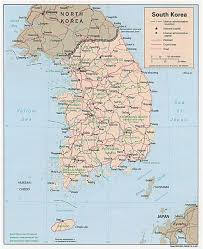 Map Of South Large Detailed Road And Administrative Map Of South Korea South