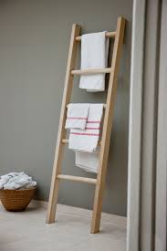Bathroom Ladder Shelf by Our Stylish Raw Oak Towel Ladder Provides Exclusive Individuality