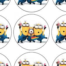 edible minions edible prints for cupcakes 24 pieces approx 4 5 cm