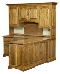 amish corner computer desk hutch home office solid wood furniture