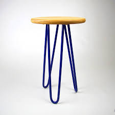 side table with hairpin legs choice of colours by cord industries