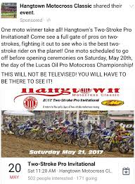 ama national motocross schedule two stroke invitational at the hang town national it u0027s