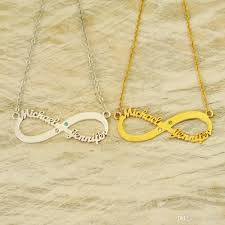 two name necklace personalized infinity necklace two name necklace friendship gift