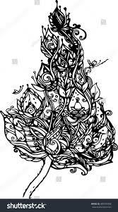 hand draw imagination lotus design thai stock vector 489410458