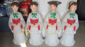 Outdoor Christmas Decorations Blow Mold by 31 Christmas Plastic Blow Mold Choir Boy And Outdoor