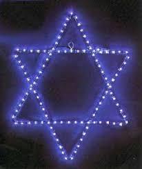 hanukkah lights decorations animated banner with lit menorah says happy hanukkah chanukah