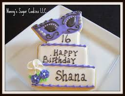 masquerade cookies nanny s sugar cookies llc sweet 16 masquerade mask cookie favors