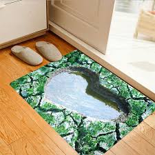 Ultra Thin Bath Mat 3d Pattern Area Rug Ultra Thin Door Mat Non Slip Floor Mat
