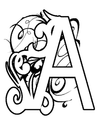 19 best letter a coloring pages images on pinterest abc