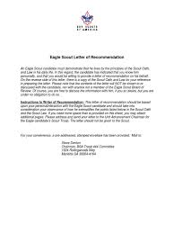 eagle scout letter of recommendation gallery letter samples format
