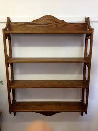 vintage on the shelf large vintage oak wall shelves the consortium vintage furniture