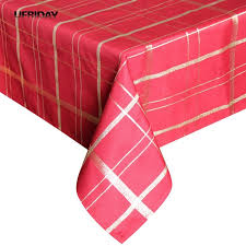 ufriday gold plaid tablecloth rectangle tablecloth