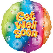 get well soon and balloons get well balloons get well soon helium balloon gift delivered by