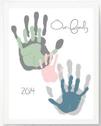 meaningful handprint gifts our family personalized print