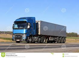 renault trucks t blue renault trucks t on the road editorial stock photo image