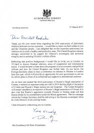 uk prime minister u0027s official letter with an invitation for