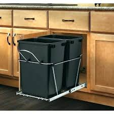 garbage can under the sink under cabinet garbage can under sink trash can pull out double waste