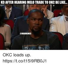 Melo Memes - kd after hearing melo trade to okc be like n the siuit of peace edom