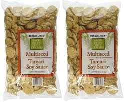 trader joe s multiseed with soy sauce rice crackers pack of 2